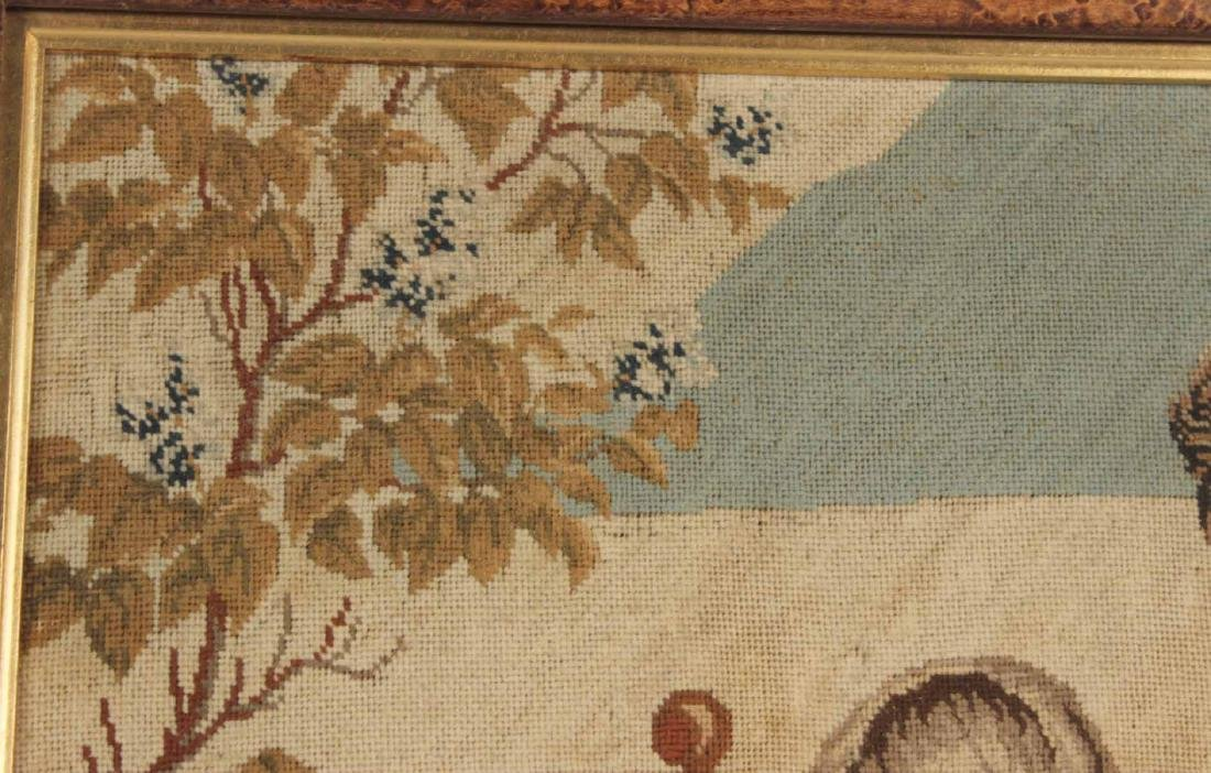 Needlework of Two Children with Rabbits and Dog - 8
