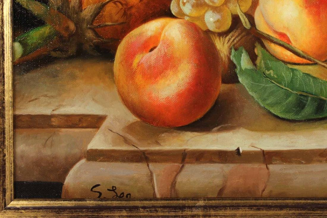 Oil on Canvas, Still Life of Fruit, S. Lee - 3