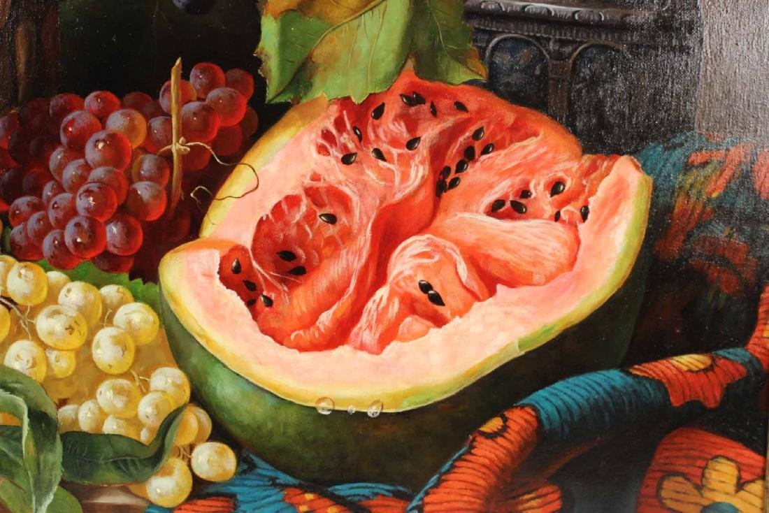 Oil on Canvas, Still Life of Fruit, S. Lee - 4