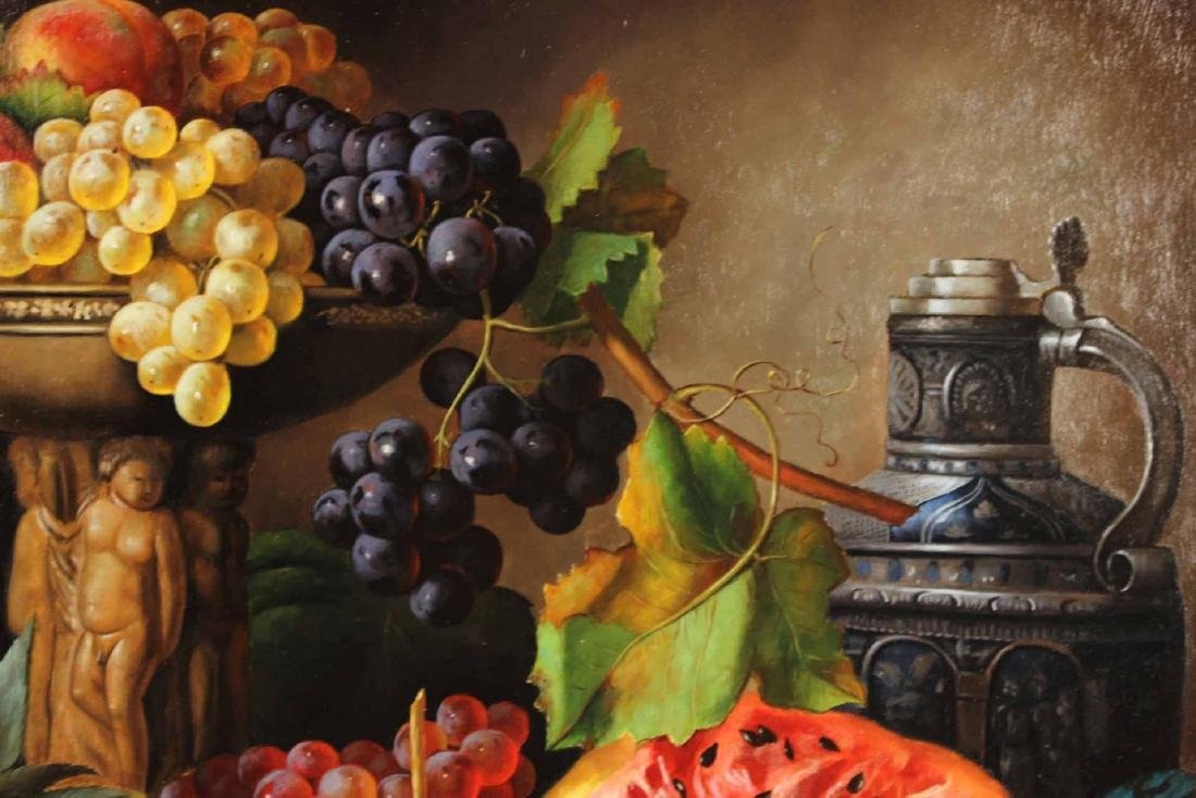 Oil on Canvas, Still Life of Fruit, S. Lee - 7