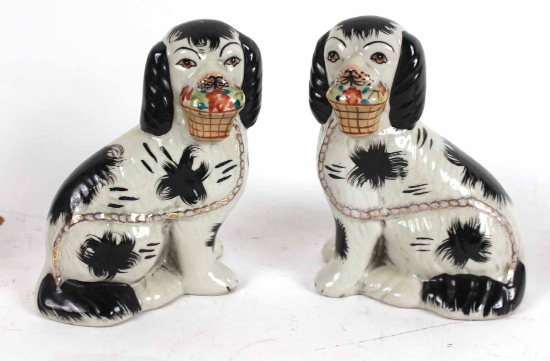 Four Staffordshire Porcelain Dogs - 2