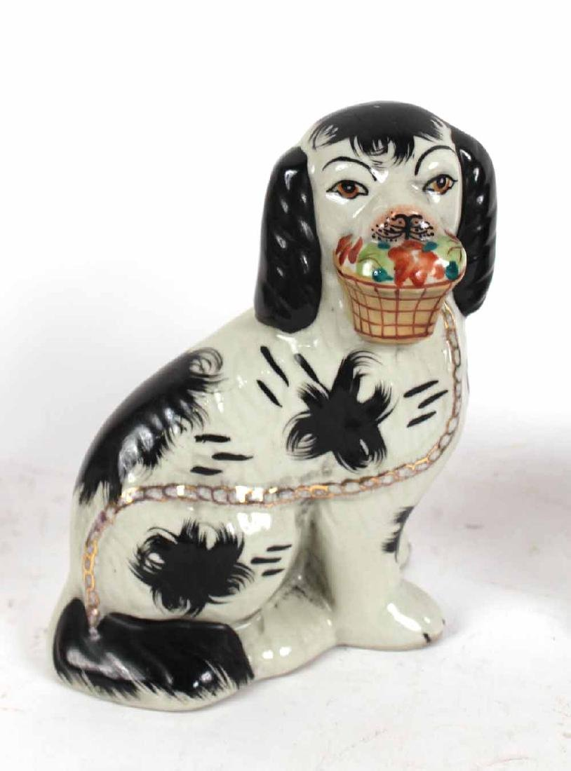 Four Staffordshire Porcelain Dogs - 3