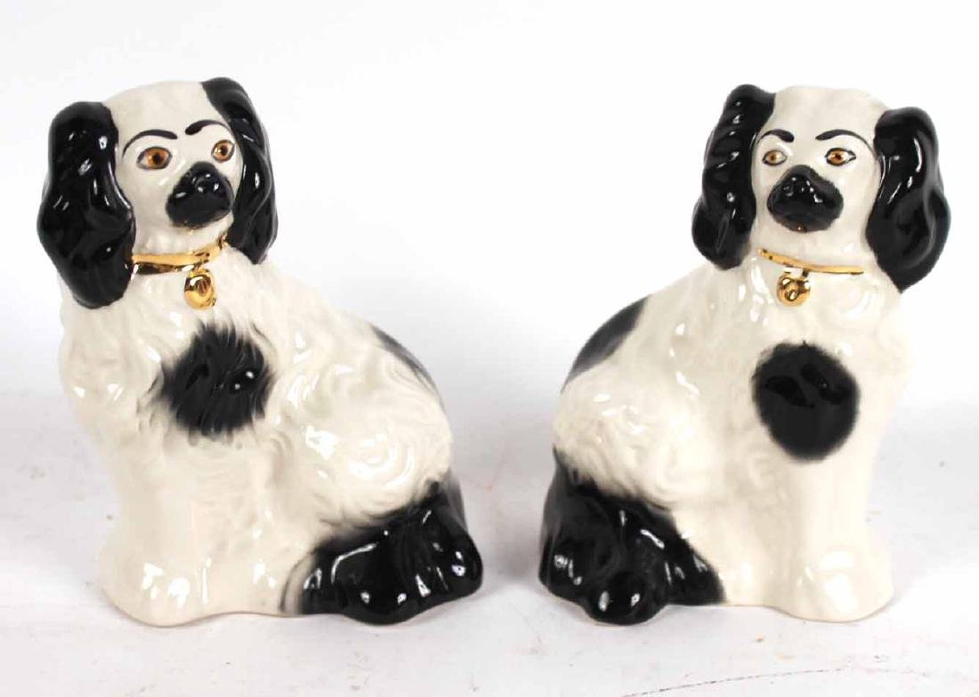 Four Staffordshire Porcelain Dogs - 6