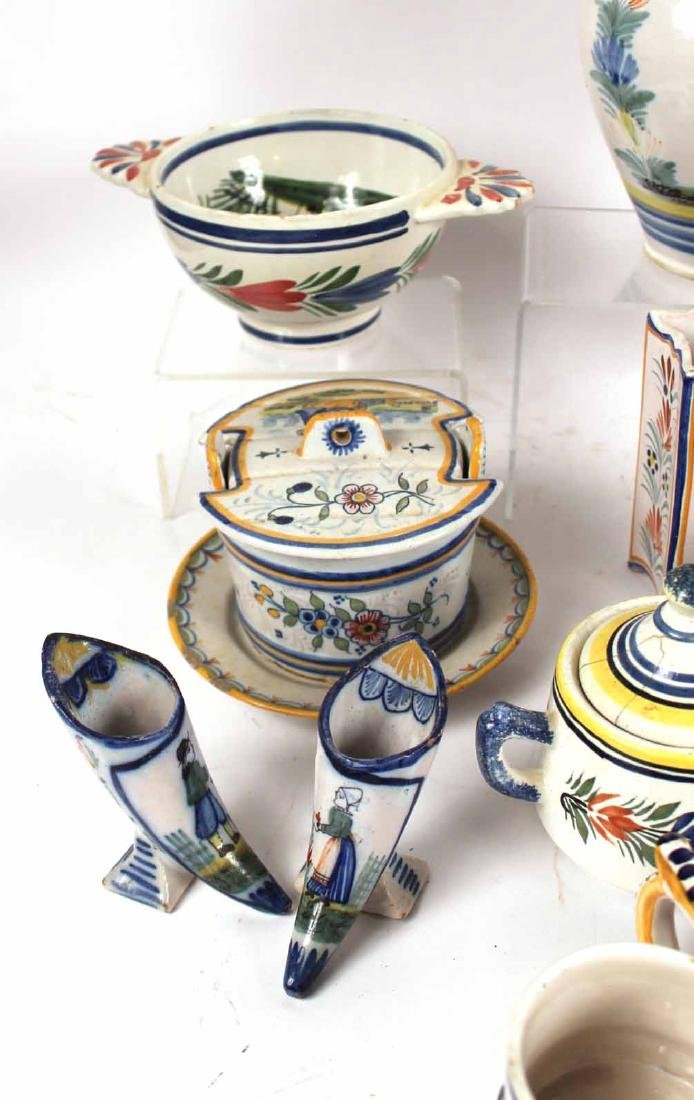 Large Group of Quimper Table Articles - 5