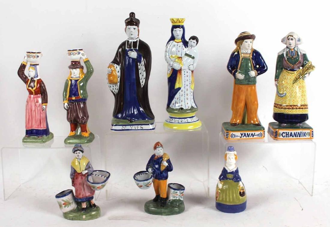Group of Quimper Ceramic Figures