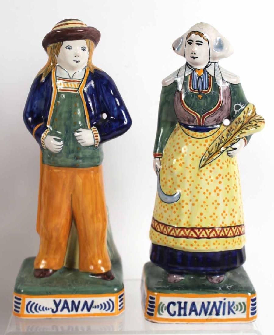 Group of Quimper Ceramic Figures - 2