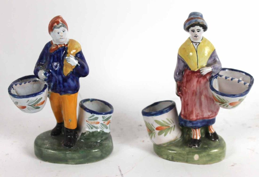 Group of Quimper Ceramic Figures - 6