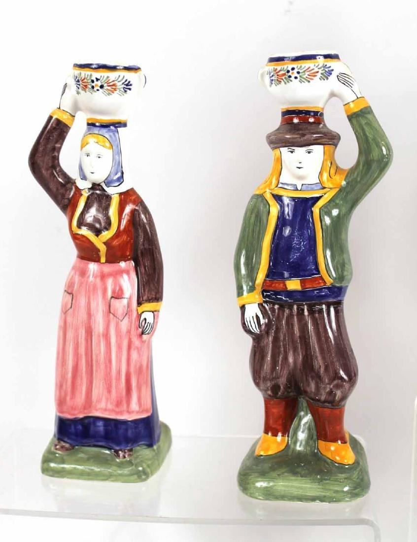Group of Quimper Ceramic Figures - 8