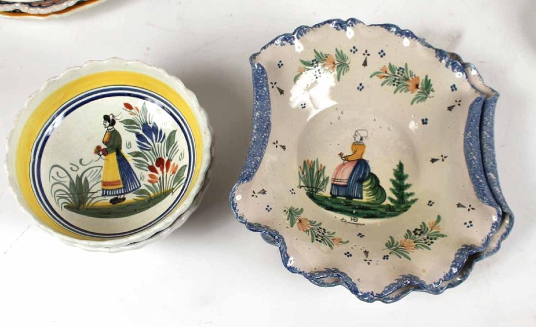Large Group of Quimper Ceramic Table Articles - 3