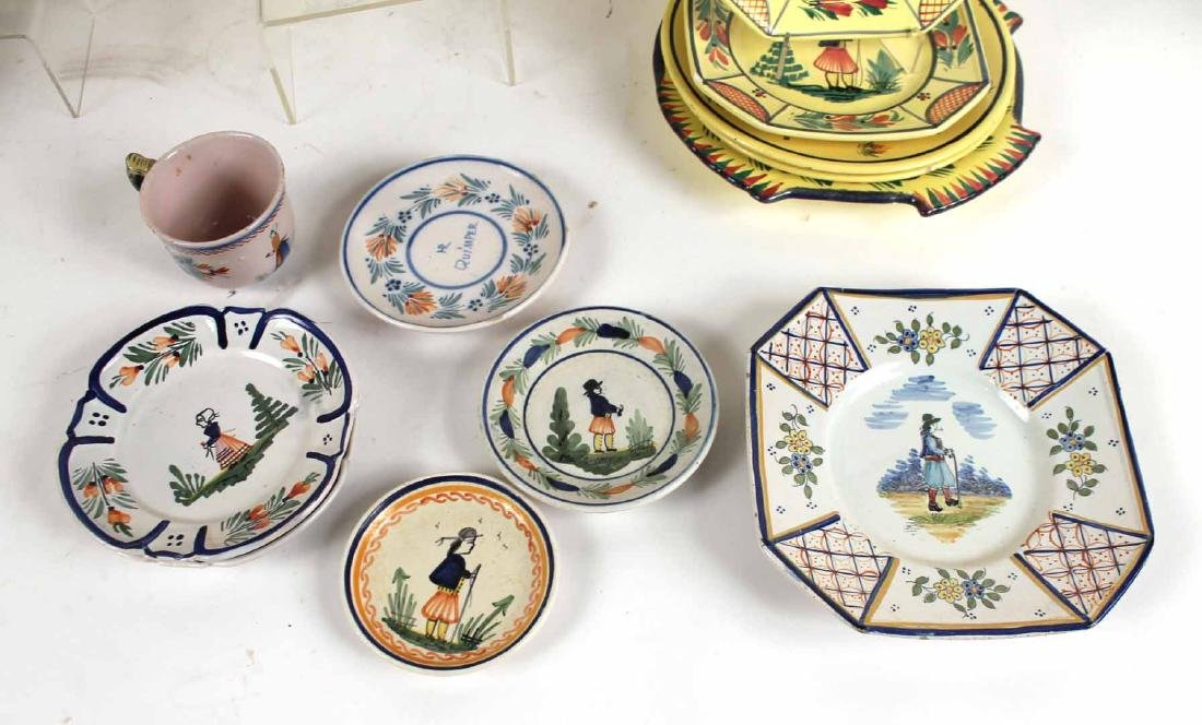 Large Group of Quimper Ceramic Table Articles - 4