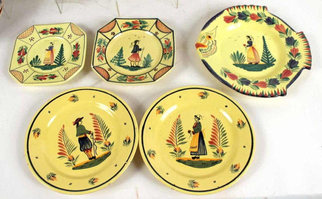 Large Group of Quimper Ceramic Table Articles - 5