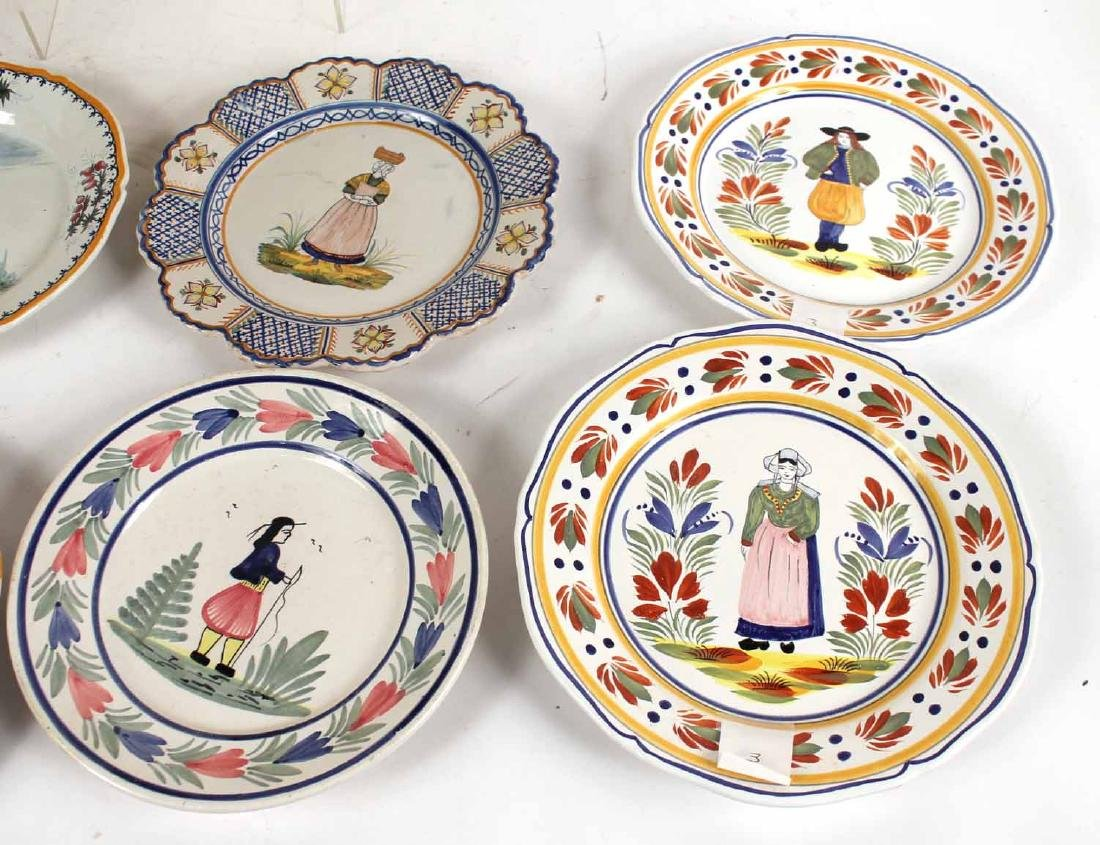 Large Group of Quimper Ceramic Table Articles - 9