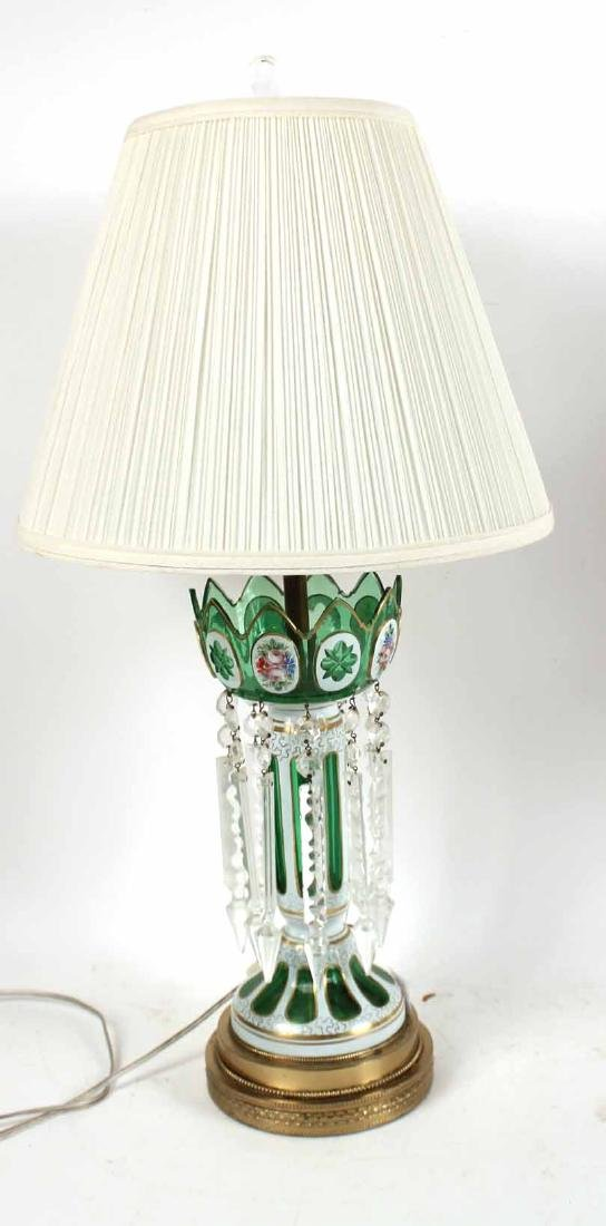 Pair of Cased Glass Lustres Table Lamps - 5