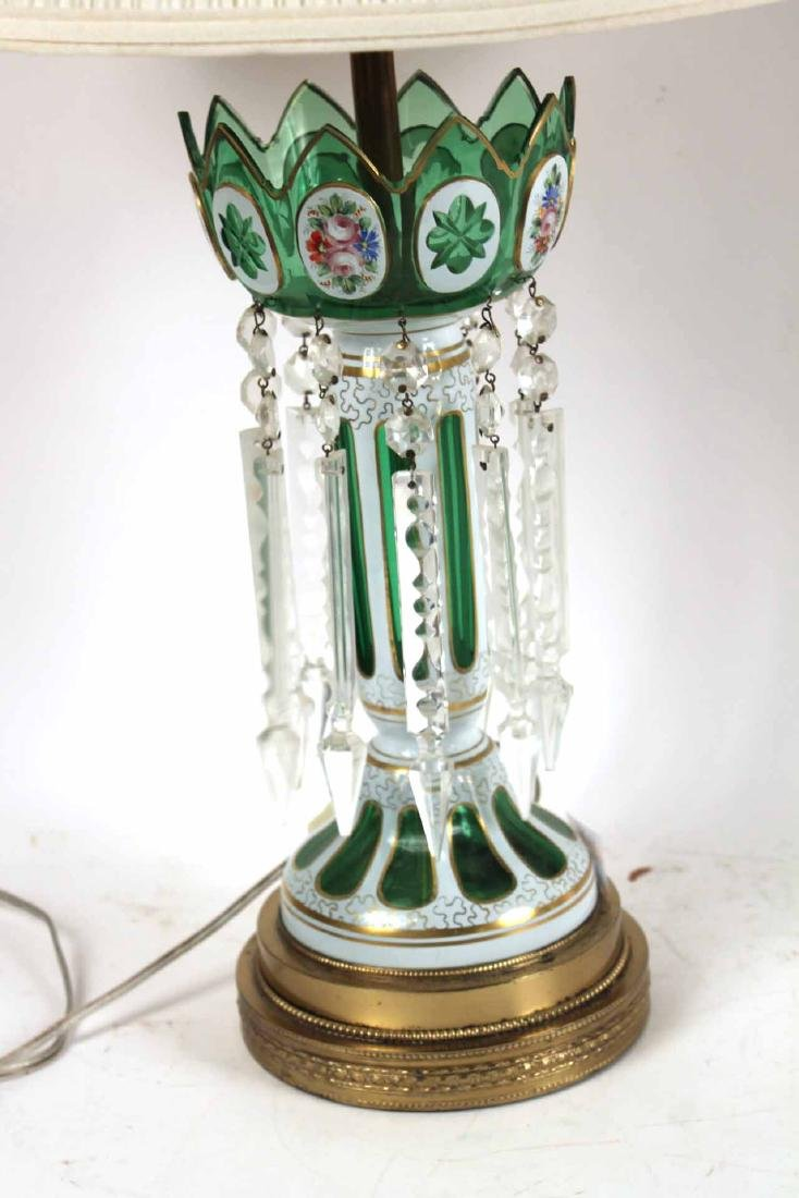 Pair of Cased Glass Lustres Table Lamps - 6