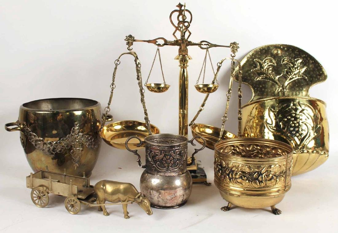 Five Brass Table Articles