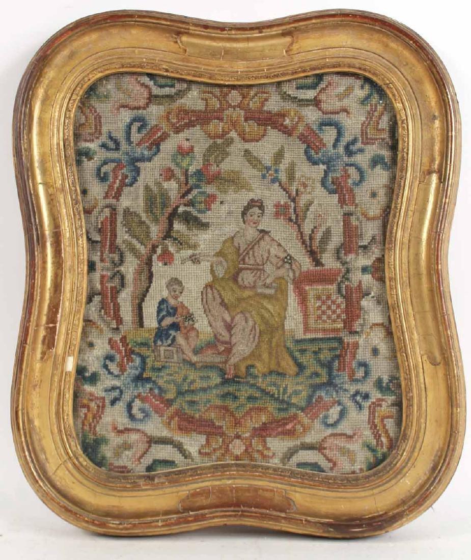Framed Needlework, Mother and Child