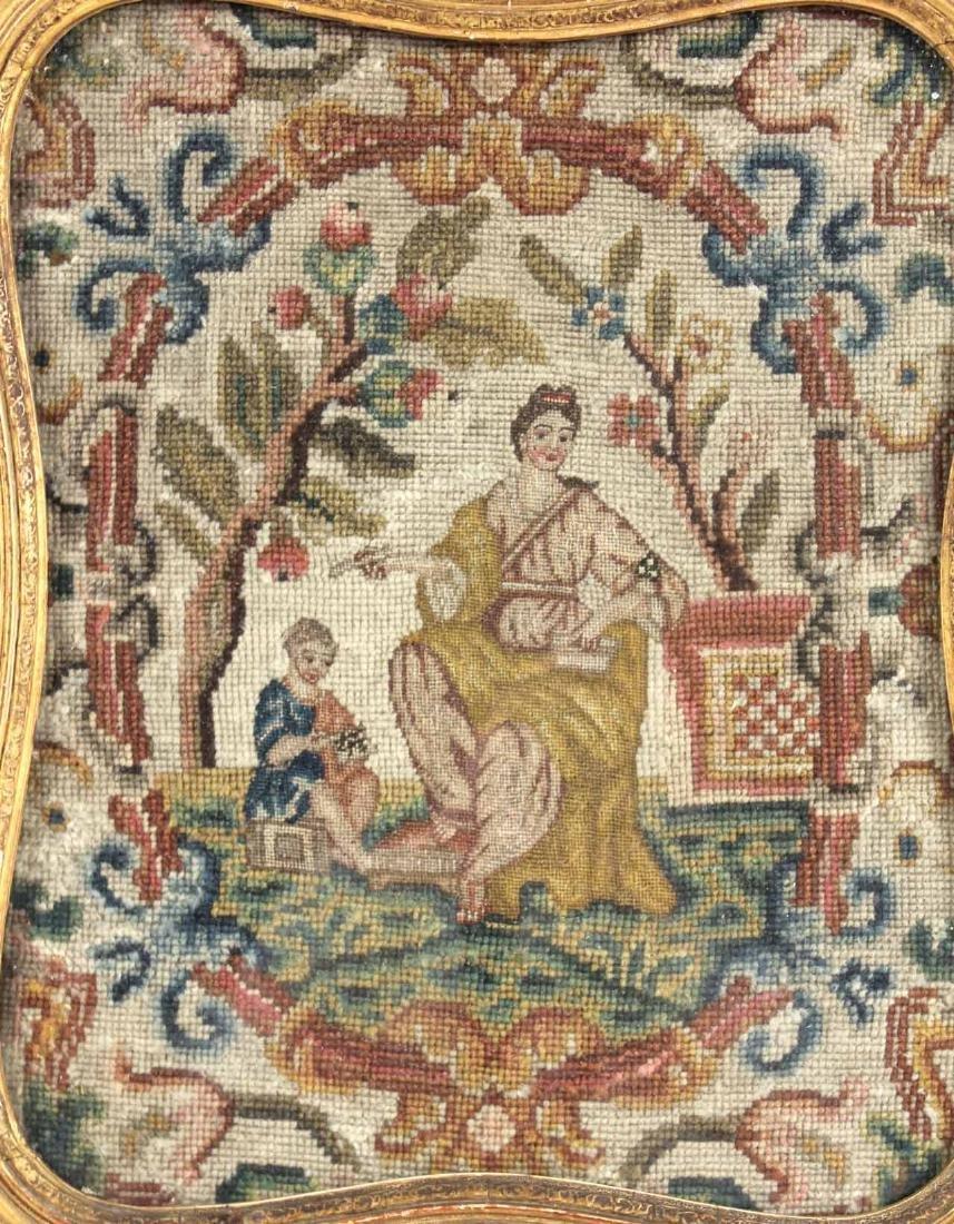 Framed Needlework, Mother and Child - 2