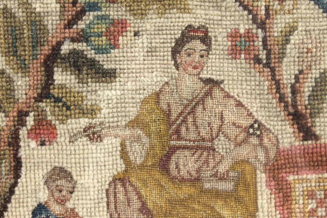 Framed Needlework, Mother and Child - 3