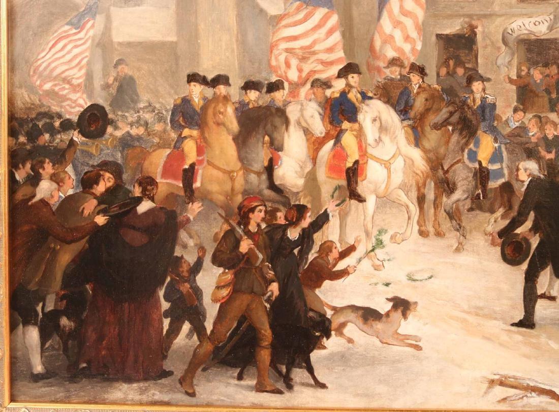 Oil on Canvas, George Washington in a Village - 3