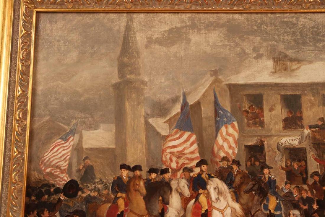 Oil on Canvas, George Washington in a Village - 4