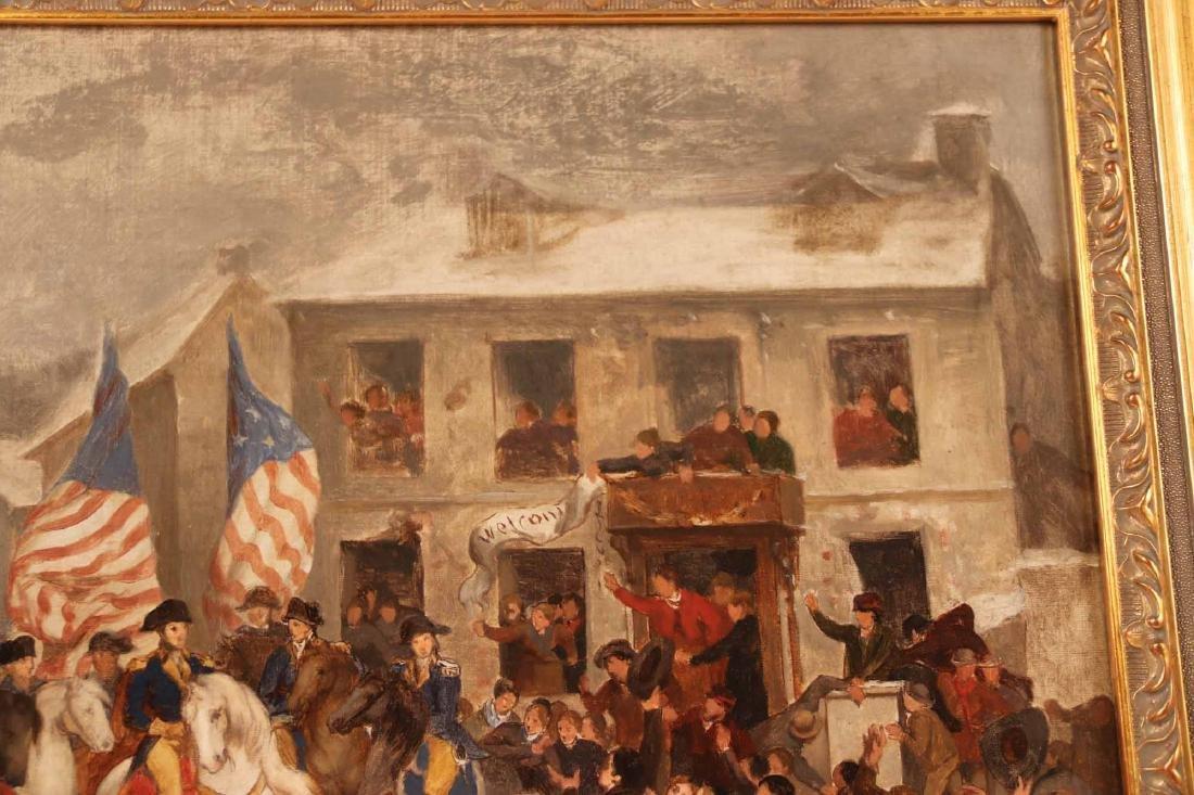 Oil on Canvas, George Washington in a Village - 5
