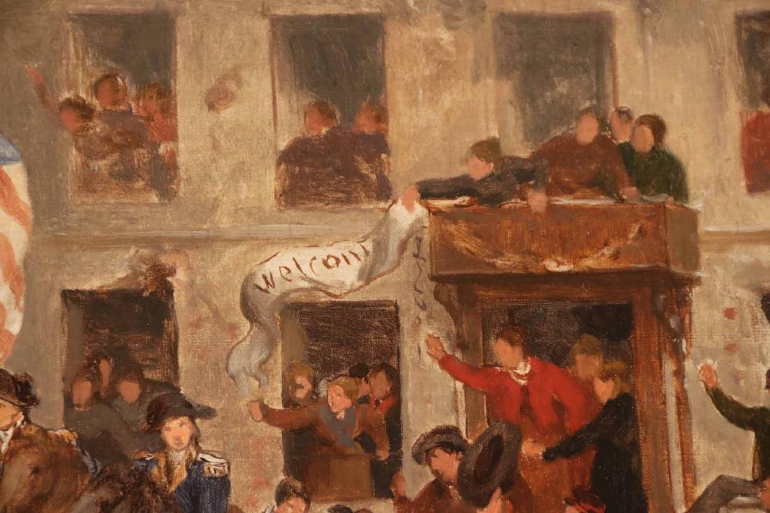 Oil on Canvas, George Washington in a Village - 7