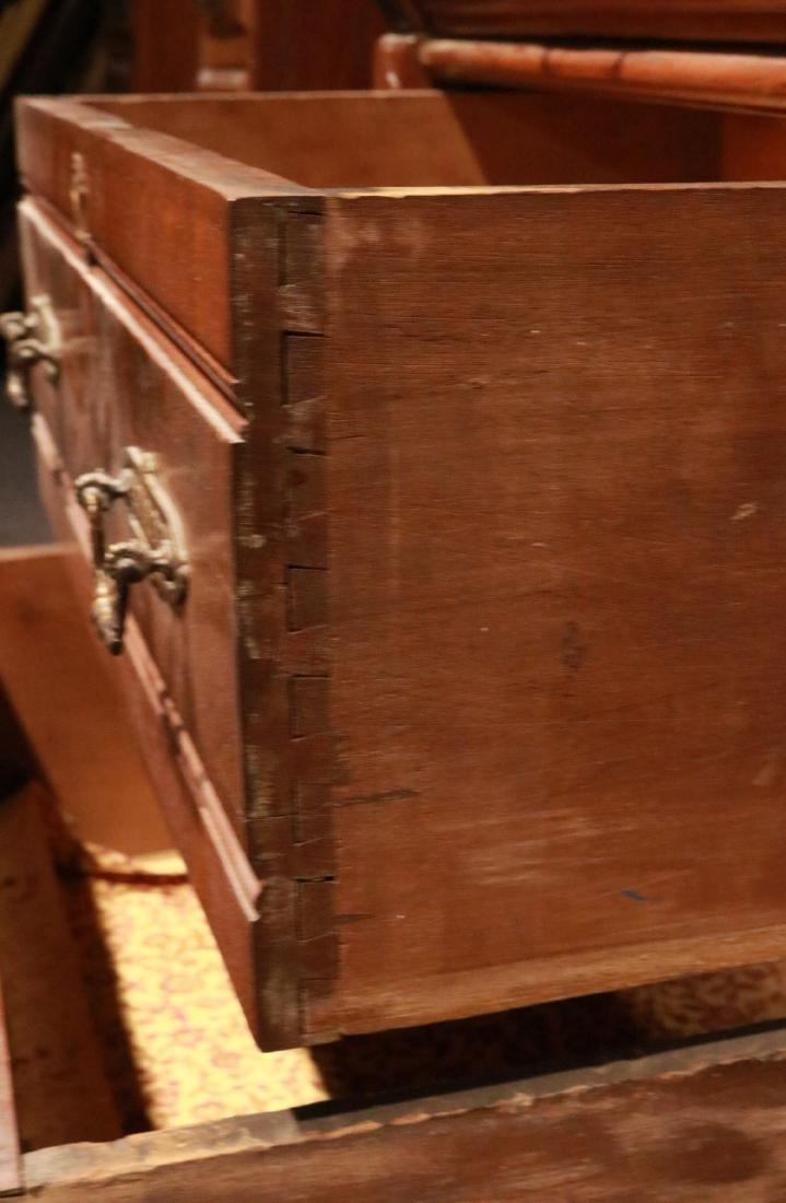 Victorian Walnut Roll-Top Secretary Bookcase - 7