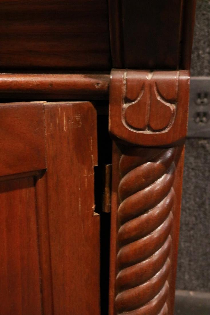 Victorian Walnut Roll-Top Secretary Bookcase - 8