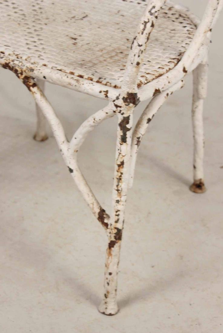 White-Painted Wrought-Iron Armchair - 2