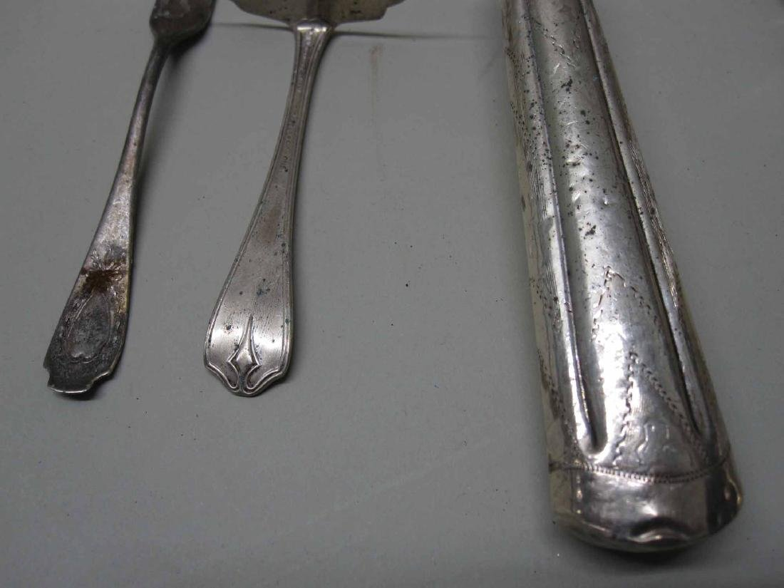 STERLING SILVER FOOD PUSHER AND CONDIMENT FORK - 4