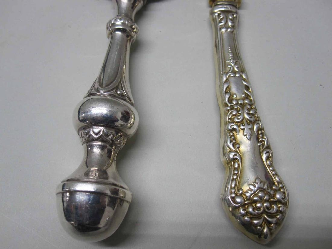 "GORHAM STERLING SILVER ""DAUPHIN"" SERVING SPOON - 2"