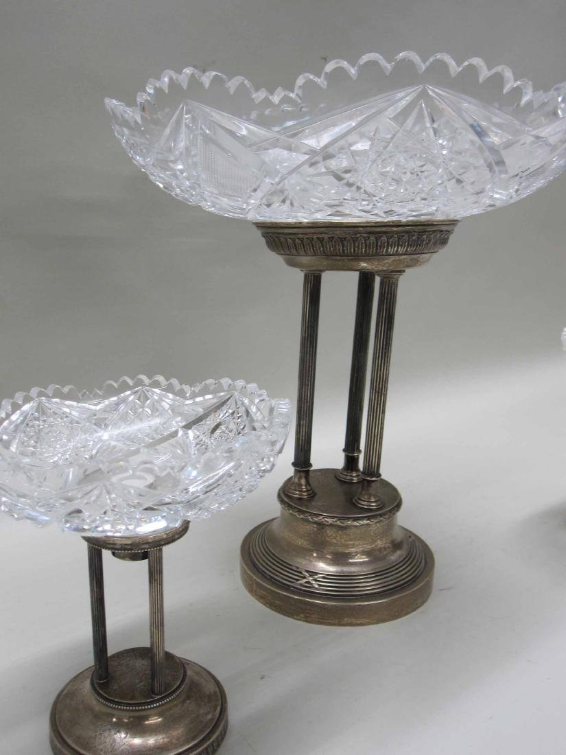 NEOCLASSICAL STYLE SILVER PLATE GARNITURE SET - 2