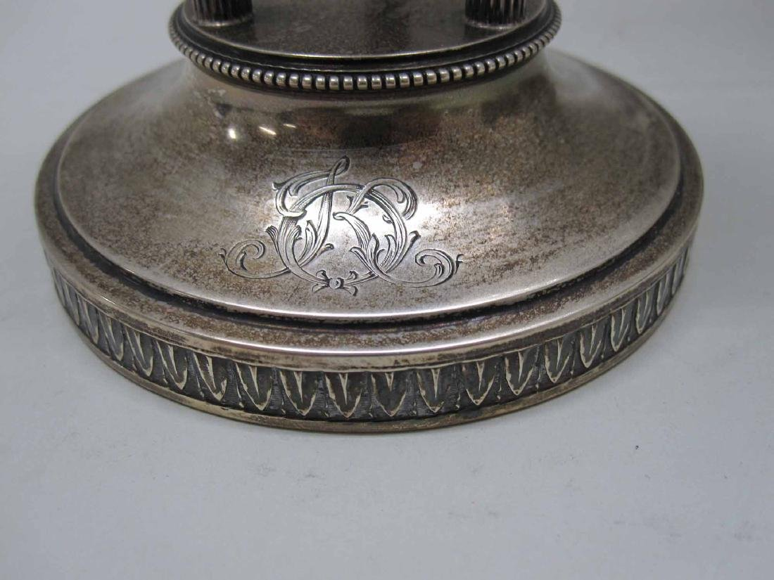 NEOCLASSICAL STYLE SILVER PLATE GARNITURE SET - 3