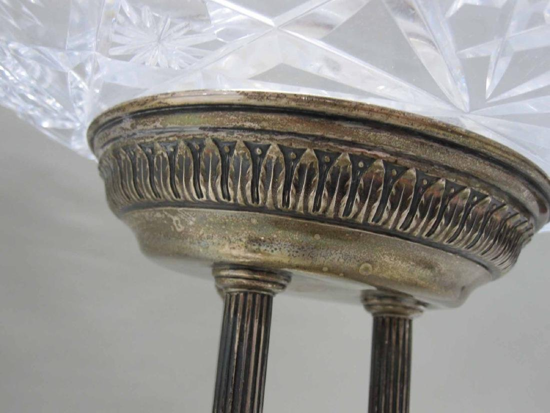 NEOCLASSICAL STYLE SILVER PLATE GARNITURE SET - 4