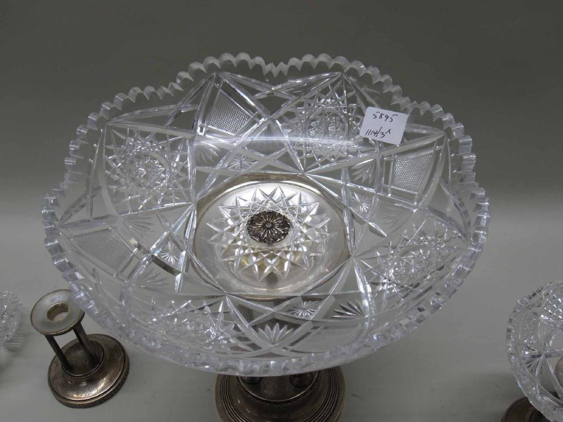 NEOCLASSICAL STYLE SILVER PLATE GARNITURE SET - 6