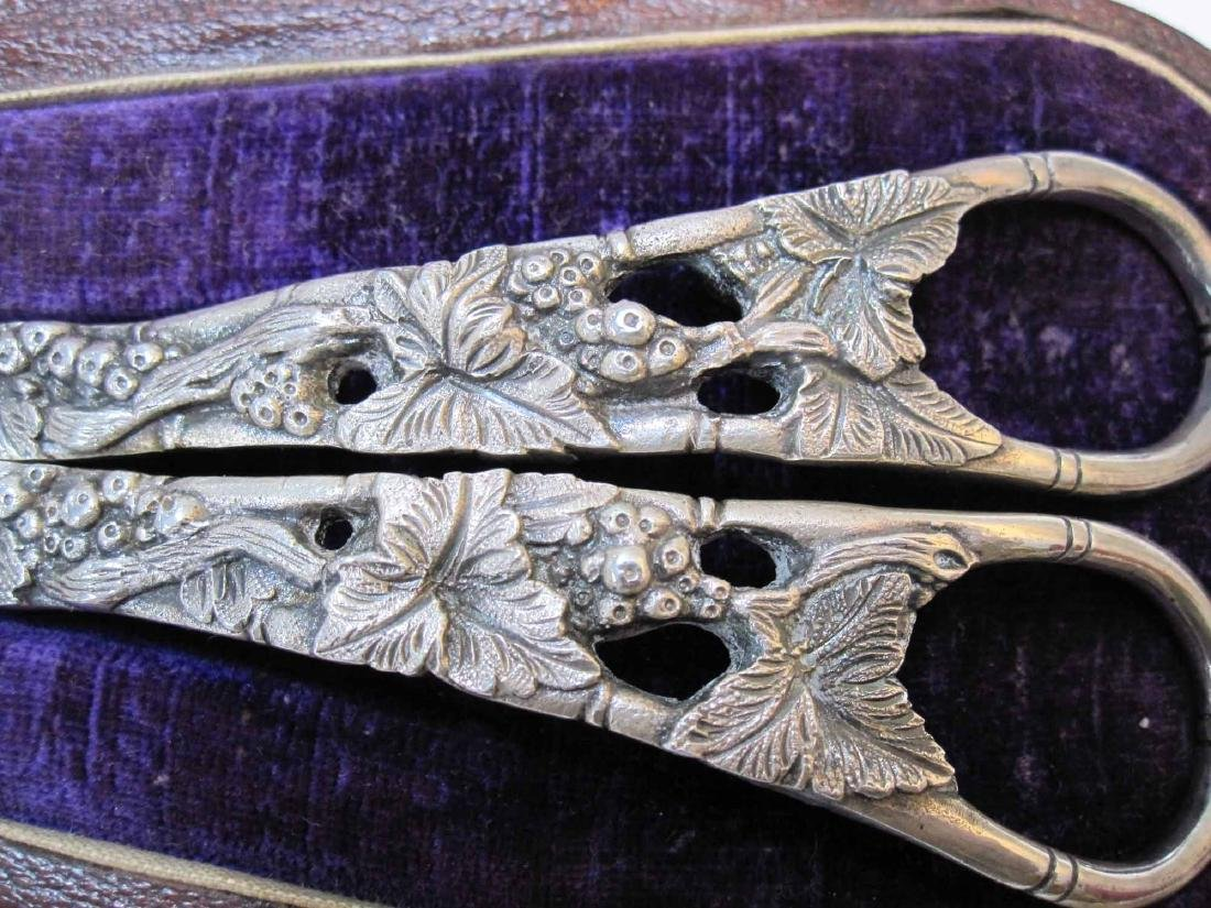 PAIR OF SILVER PLATE GRAPE SHEARS - 2