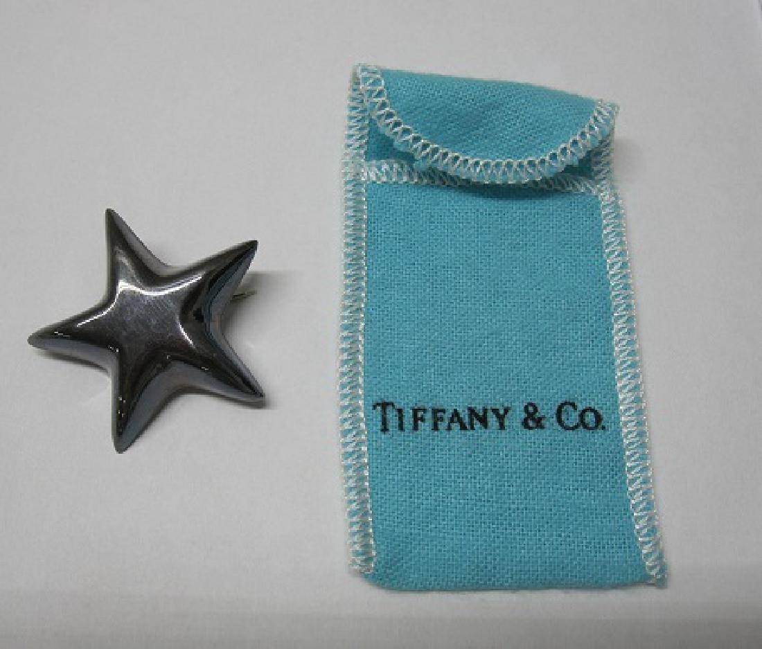 TIFFANY & COMPANY STERLING SILVER STAR FORM PIN