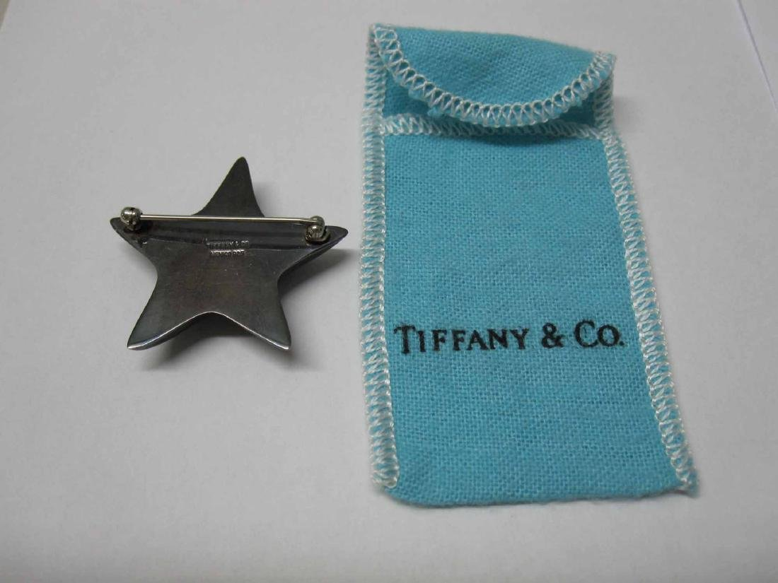 TIFFANY & COMPANY STERLING SILVER STAR FORM PIN - 2