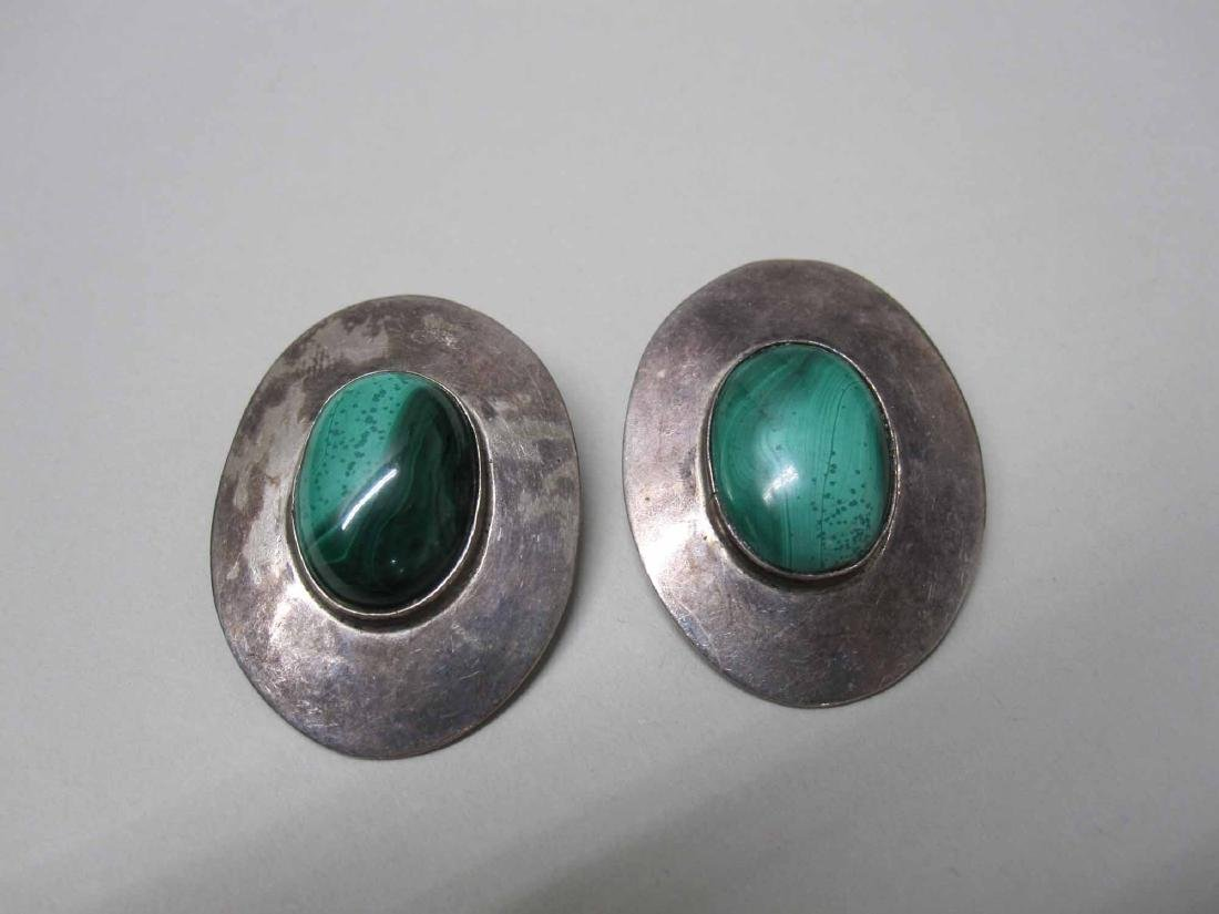 TWO PAIRS OF MEXICAN STERLING SILVER EARRINGS - 2