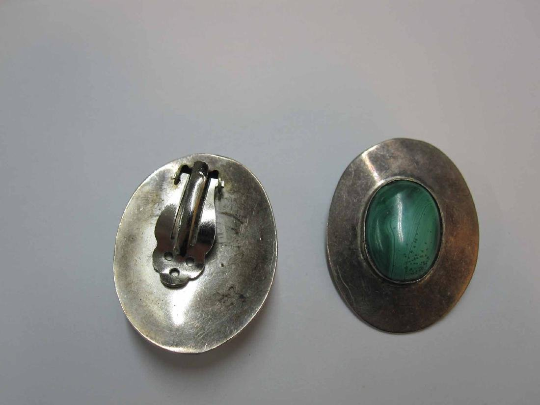 TWO PAIRS OF MEXICAN STERLING SILVER EARRINGS - 5