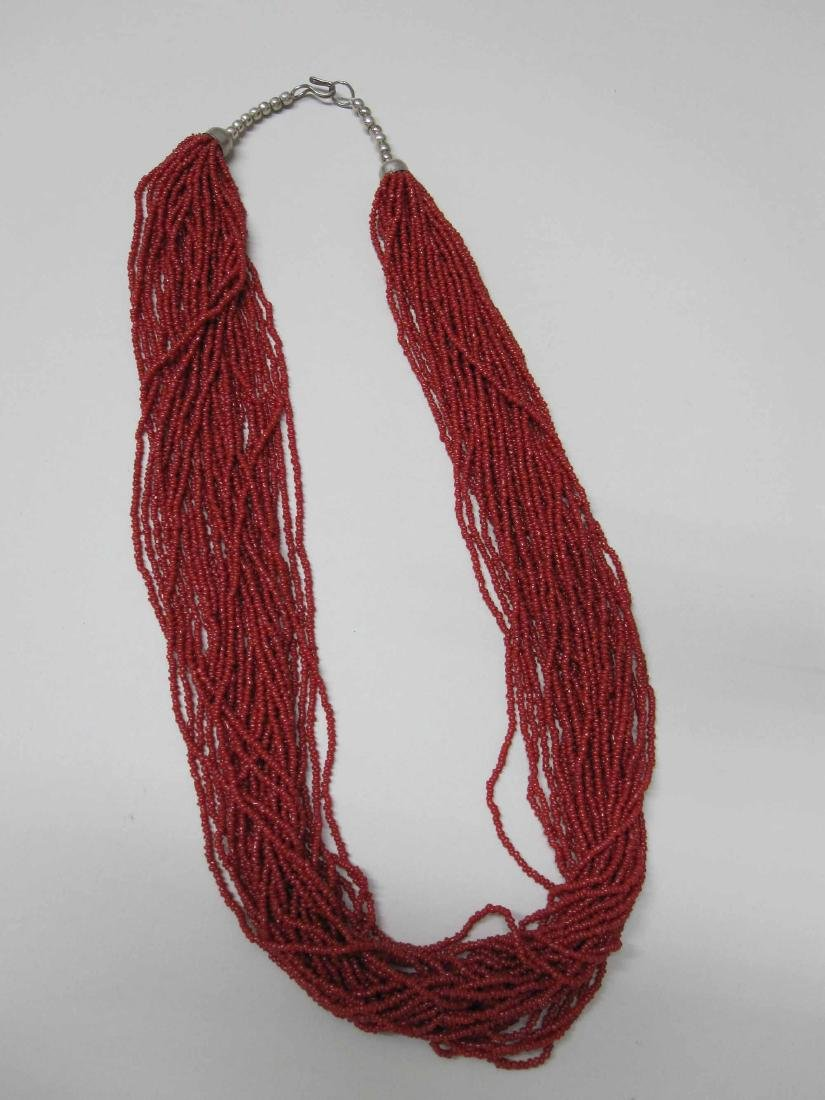 TWO MULTI-STRAND BEAD NECKLACES - 4