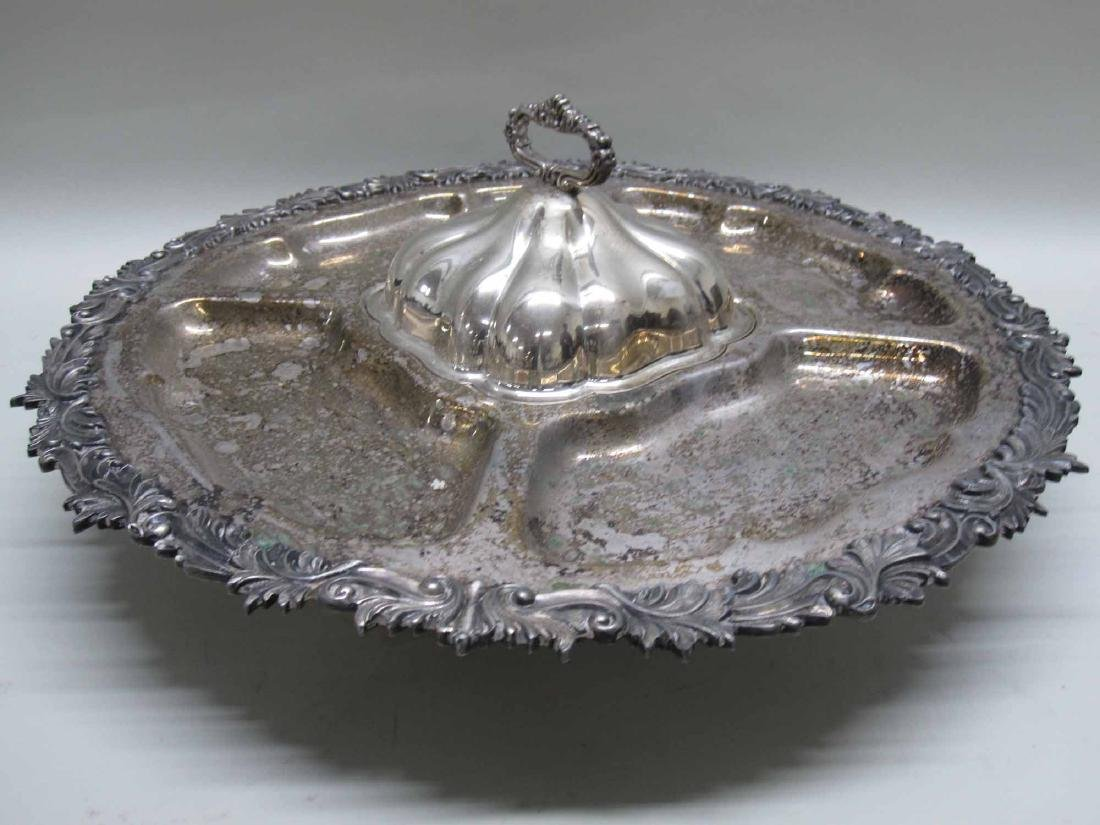 SILVER PLATED SERVING DISH