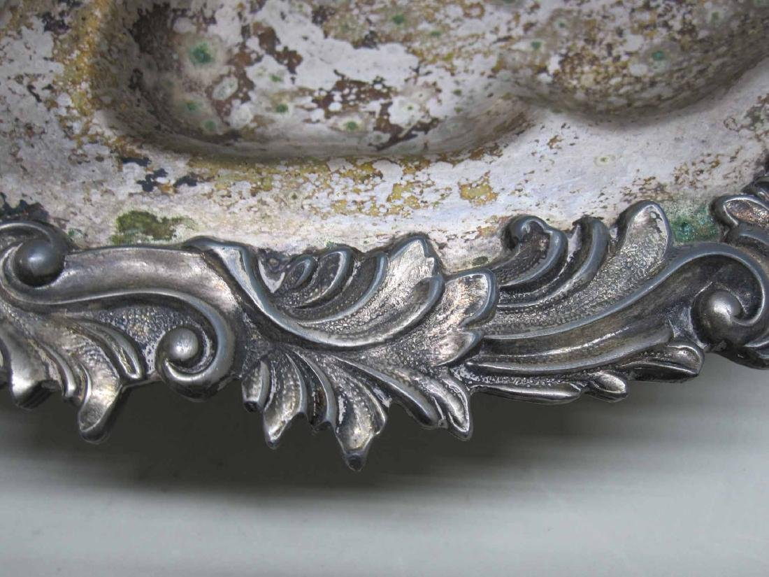 SILVER PLATED SERVING DISH - 3