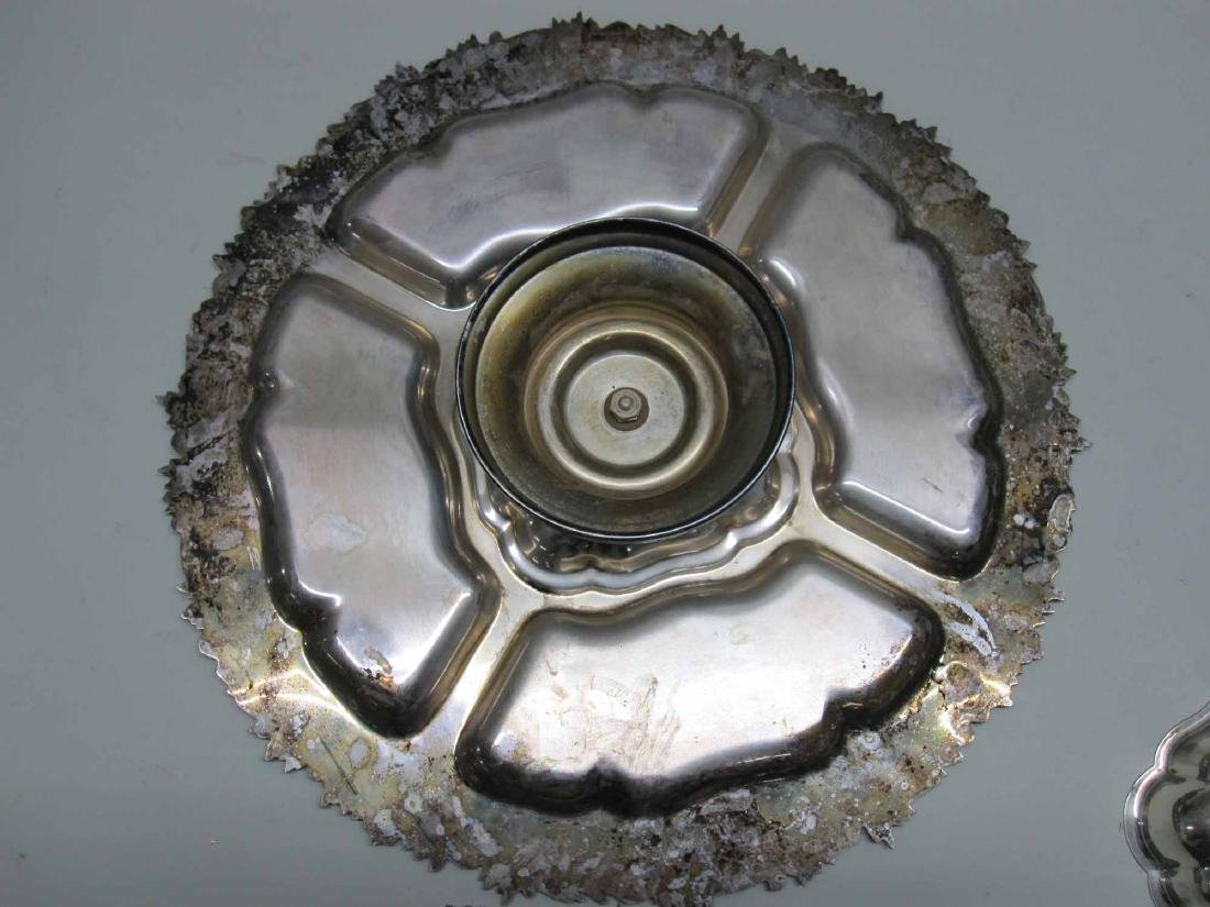 SILVER PLATED SERVING DISH - 4