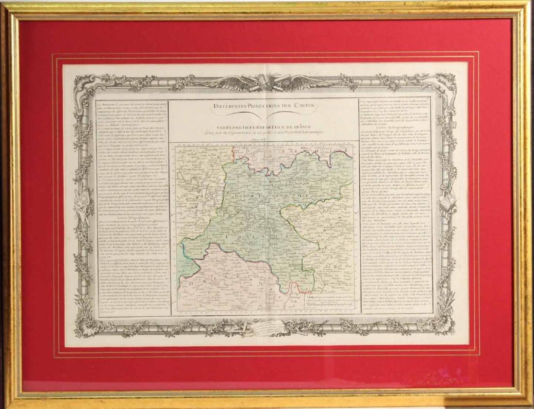 MAP OF CARTE PARTICULIERE DELISLE DE FRANCE - 2