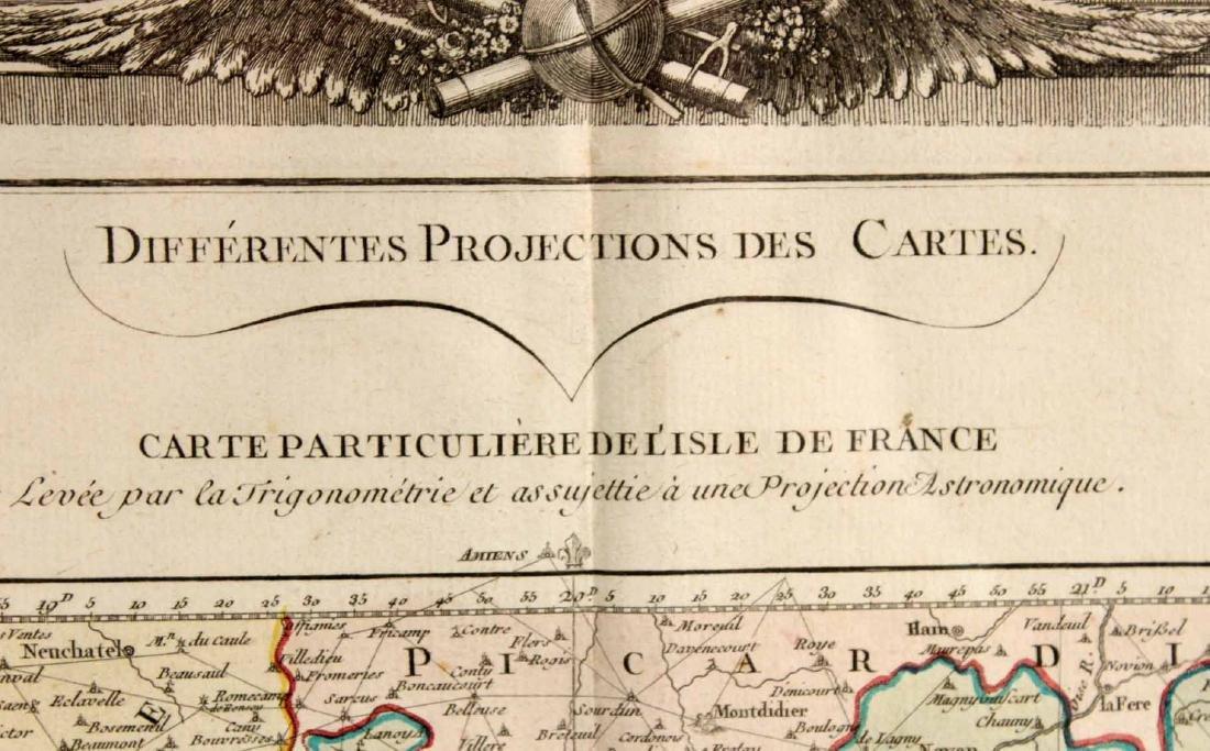 MAP OF CARTE PARTICULIERE DELISLE DE FRANCE - 4