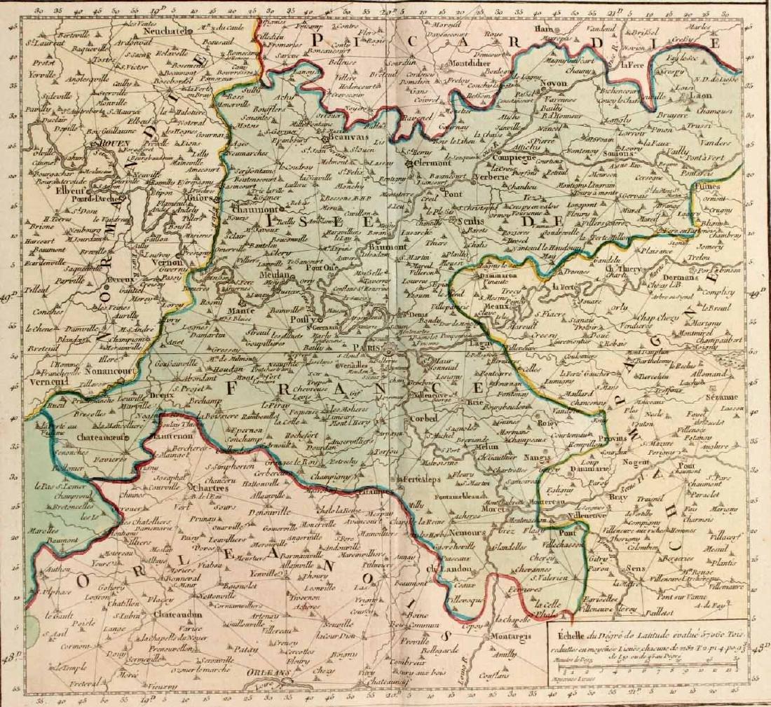 MAP OF CARTE PARTICULIERE DELISLE DE FRANCE - 5