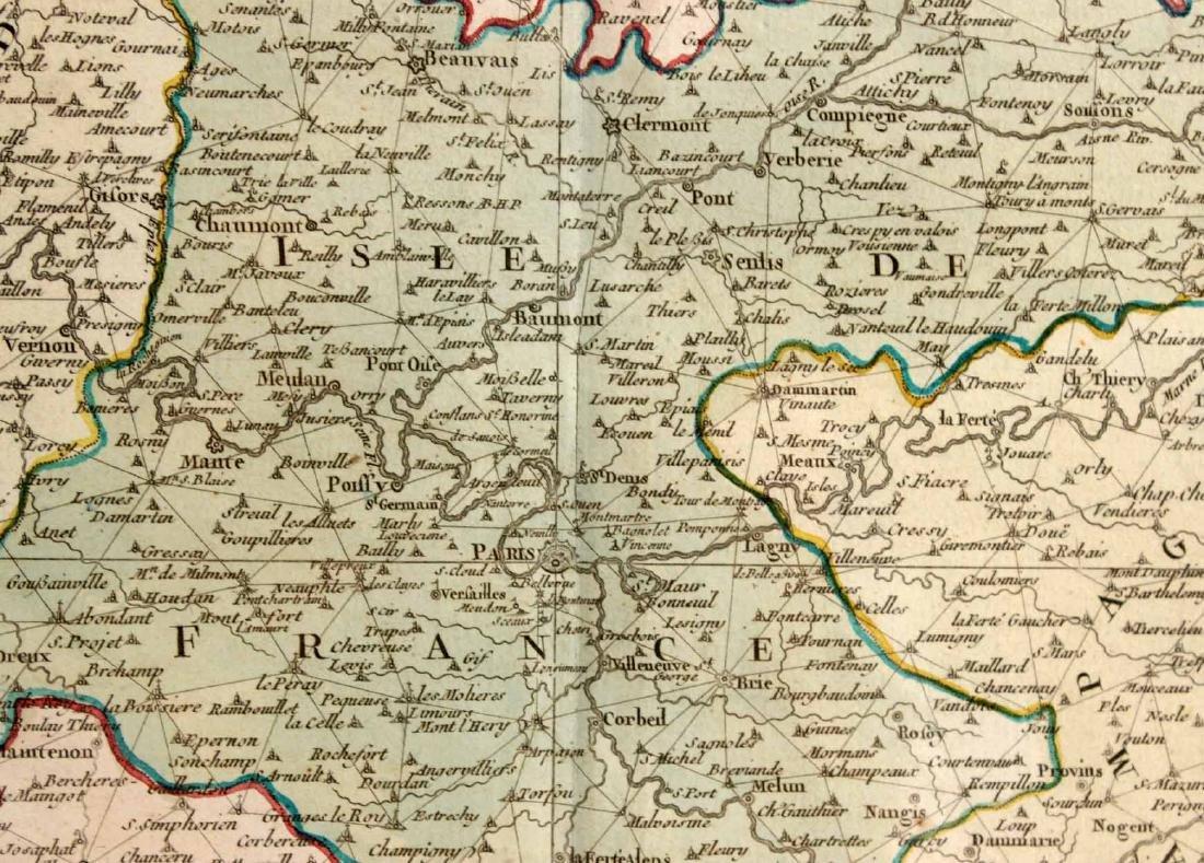 MAP OF CARTE PARTICULIERE DELISLE DE FRANCE - 6
