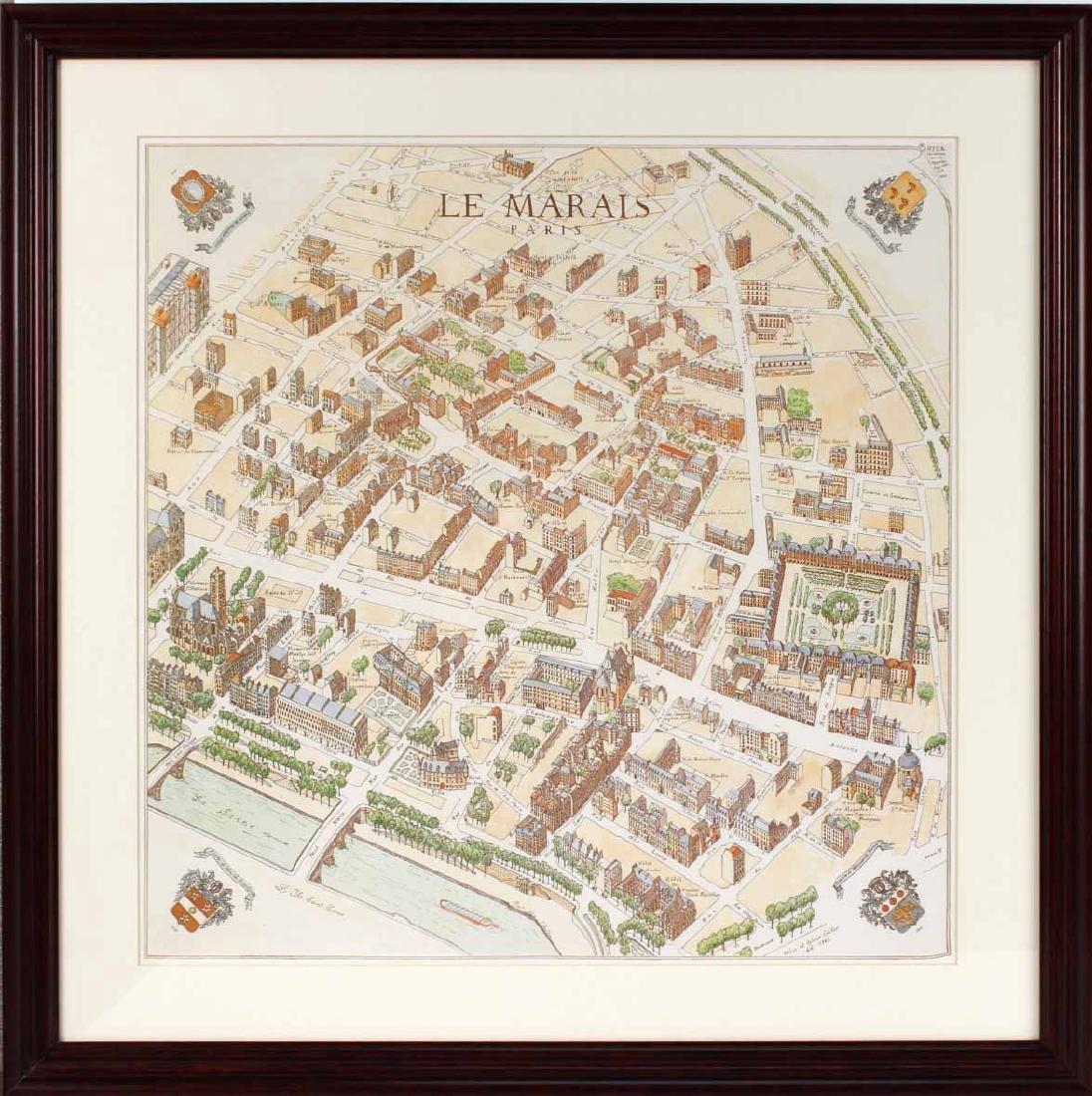 MAP OF CARTE PARTICULIERE DELISLE DE FRANCE - 7
