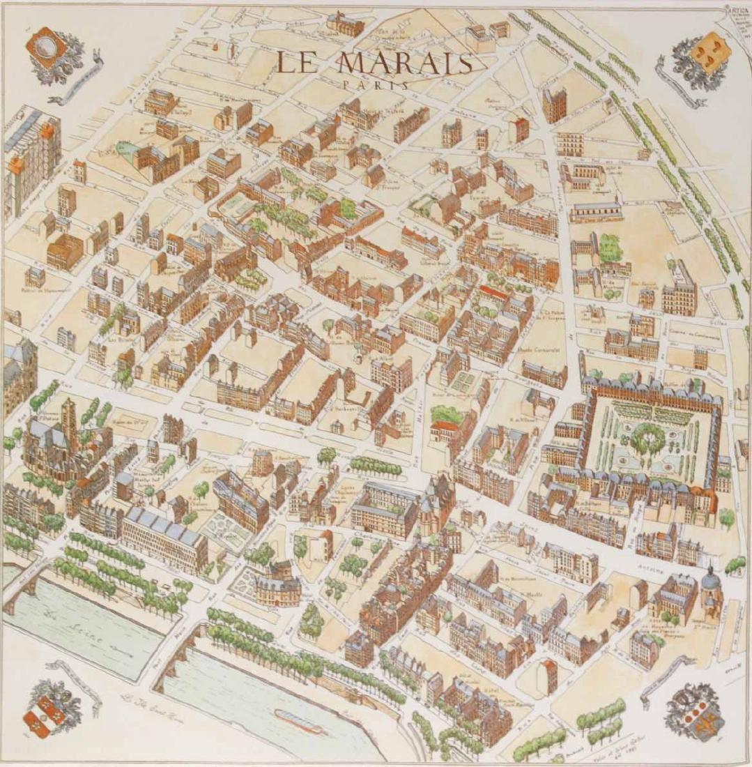 MAP OF CARTE PARTICULIERE DELISLE DE FRANCE - 8